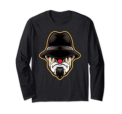Cholo Clown Costumes - Halloween Scary Clown Cholo Shirt Gangster