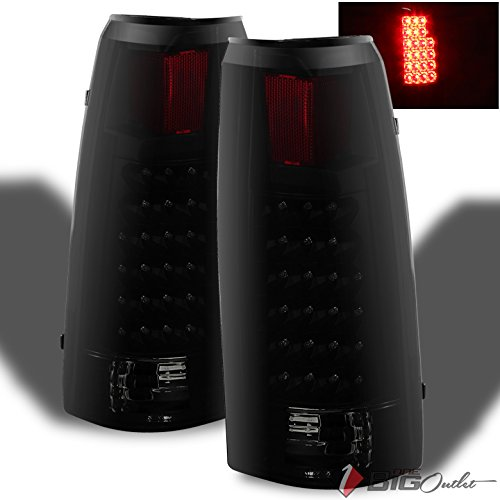 Xtune For 1988-1998 C/K Series Pickup Darkside Black Smoked LED Tail Lights w/LED Signal Pair L+R 1989 1990 1991 1992 1993