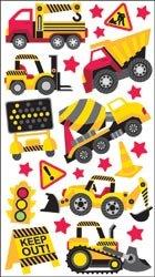 Bulk Buy: Sticko Sparkler Classic Stickers-Construction Zone (6-Pack)