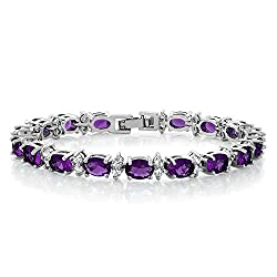 Purple Color Zirconias CZ Women's Bracelet