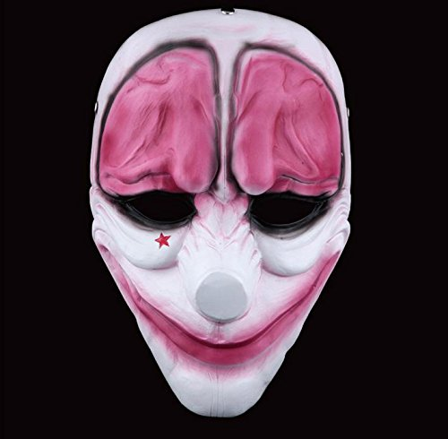 meg Female Bandit Red Head Mask Masquerade Cosplay Halloween Party Mask Top Grate Resin Collection Handmaman Movie Theme of Harvest Day 2 -