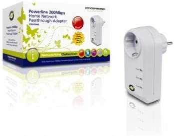 Conceptronic 1-2-3 Powerplug 200 Mbps Network Adapter - Accesorio ...