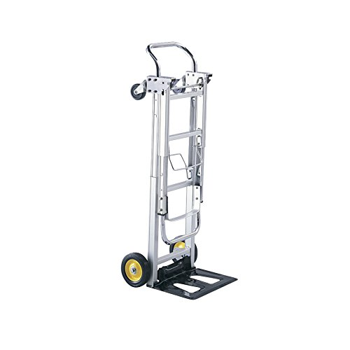 Hideaway Products Safco - Safco Products Hide-Away Convertible Hand Truck 4050, Dual Function, 400 lbs. Total Capacity, Aluminum Frame (Renewed)