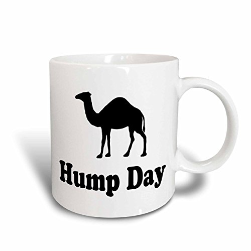 3dRose Hump Day Camel Wednesday Ceramic Mug, 11-Ounce