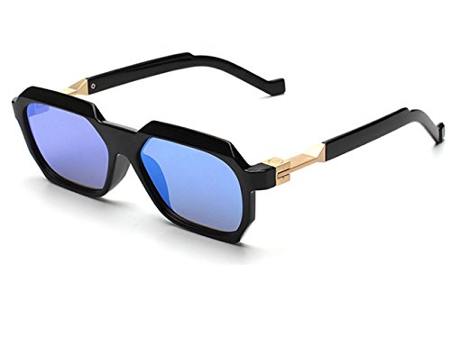 Konalla Vintage Sunglasses Rectangular Geometric Frame Unisex glasses UV400 - Online Ucb Sunglasses