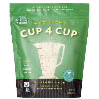Cup 4 Cup - Gluten Free Wholesome Flour - 25 lb Bag by Cup 4 Cup