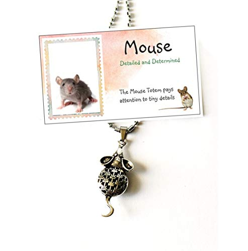 Smiling Wisdom - Mouse Hollow Necklace Gift Set - Spirit Totem Animal For Children, Tweens, Teens, Girls, Friends - Favors, BFF - Christmas - Limited Edition