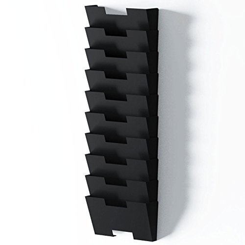 Black Wall Hanging Wall Files Mount Steel Vertical File