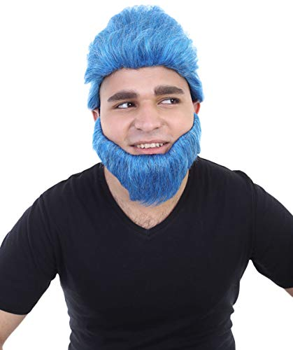 Halloween Party Online The Apocalypse Beast Wig, Blue Adult HM-057 ()