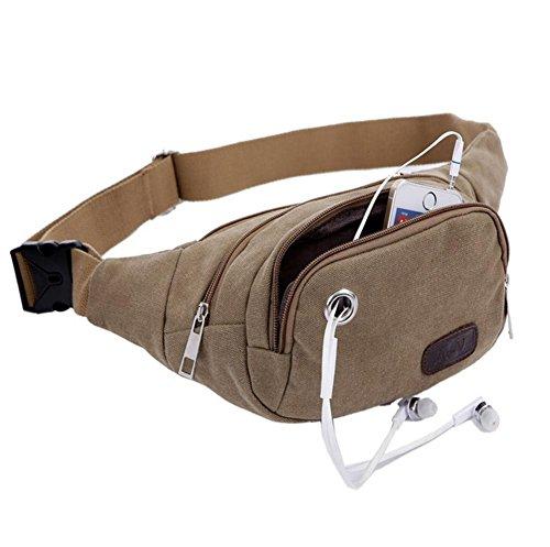 pengweiLos hombres ocasionales y las mujeres de lona sueltan el bolso al aire libre de la cintura del bolso de los deportes , 4 5