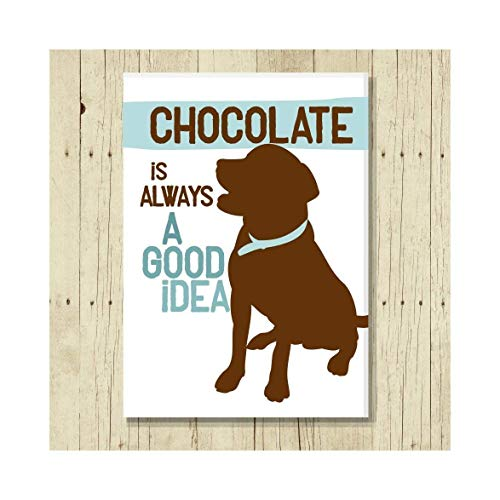 (Chocolate Lab Gifts Labrador Magnet 2.5