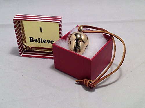Elf Favorite Polar Double Chamber Gold Sleigh Bell From Santa's Sleigh W I Believe Box Express From the Workshop