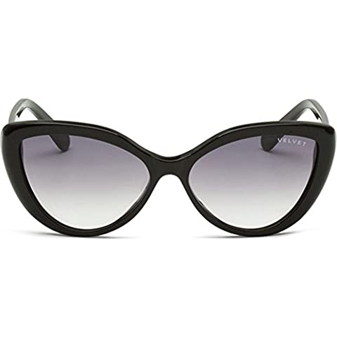 Velvet Eyewear Joie Black Frame / Grey Fade Lens Cat-Eye Sunglasses - Velvet Lens
