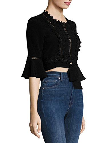 For Love & Lemons - Willow Crop Top - Black - S by For Love & Lemons (Image #2)