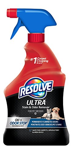 Resolve Ultra Pet Stain & Odor Remover Spray, 32oz (Best Dog Carpet Cleaner)