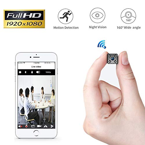 1080P WiFi Hidden Camera,Yilutong Portable Spy Mini Wireless Small Security...