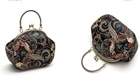 GWQGZ Original Handmade Silk Chinese Semicircle Handbag