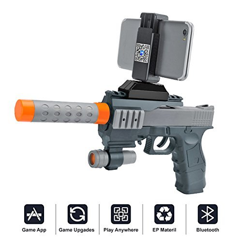Amazon.com: Sunandy AR Games Gun Augmented Reality Bluetooth Game Controller with Cell Phone Stand Holder Portable Eco-Friendly AR Gun Toy Gift with 360°AR Games for IOS Android Smartphones: Toys & Games
