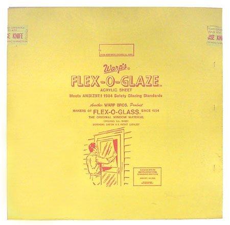 Warp Bros 80G-2830 Flex-O-Glaze Acrylic Safety Glaze, 28-Inch by 30-Inch