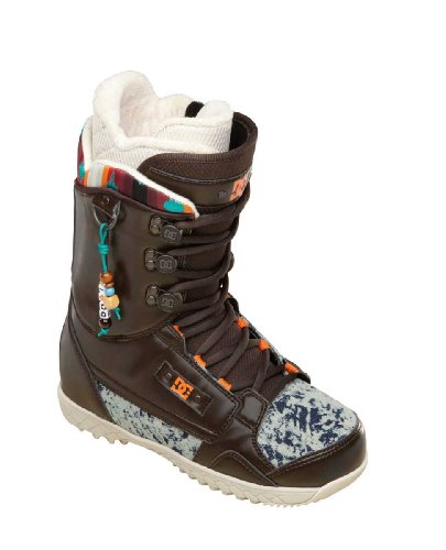 DC Women's Misty 13 Snowboard Boot,Brown/Blue,7 M US