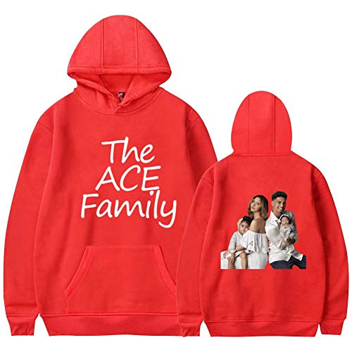 ace Family with New Baby Casual Printed Hoodies Sweatshirts,Youth & Adult Clothing Pullover Tops Youth M Red