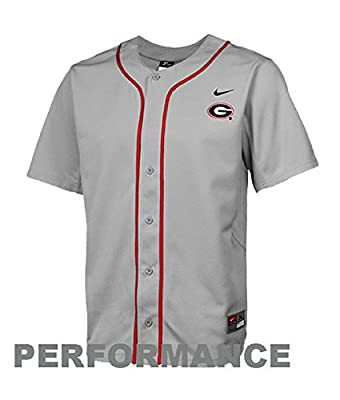 Nike Georgia Bulldogs Youth Dri-FIT Replica Baseball Jersey Gray Medium