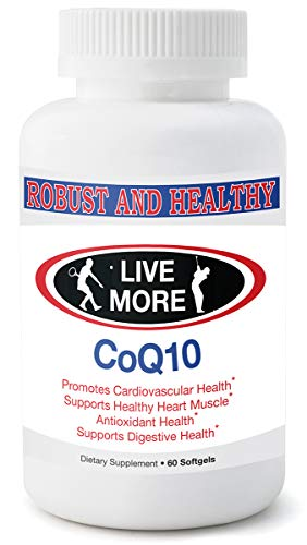 Pure CoQ10 Supplement by Robust & Healthy Fat Soluble Coenzyme Q10 Promotes Healthy Cardiovascular System, 100mg CQ10 Must Have If On Statins, Made in USA (60 softgels) For Sale