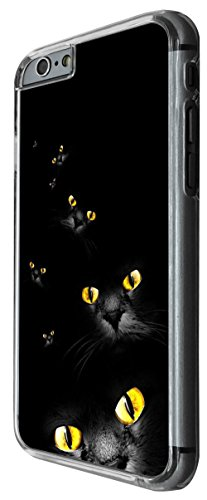 1083 - Cool Fun Multi Cat Eyes Design For iphone 6 Plus / iphone 6 Plus S 5.5'' Fashion Trend CASE Back COVER Plastic&Thin Metal -Clear