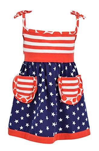 Unique Baby Girls Patriotic 4th of July Summer Dress (3t, Red) -