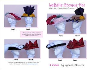Edwardian Hats, Titanic Hats, Tea Party Hats 1895-1905 La Belle Epoque Hat Pattern $13.95 AT vintagedancer.com