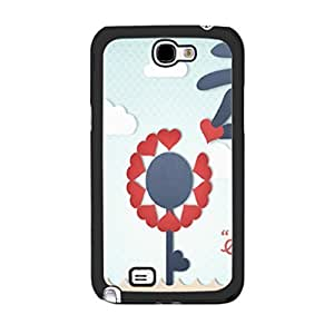 Hu Xiao Summer Sky Clouds Design Samsung Galaxy S5 I9600/G9006/G9008 Love Hearts Floral Print cell phone case cover Skin