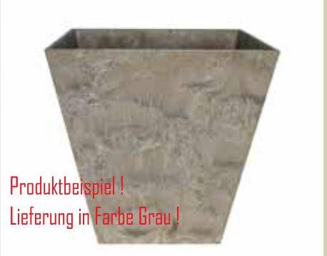 Blumenübertopf Artstone Ella Pot aus Kunststoff, sonnen-und regenbeständig für Innen und Außen, Farbe Grau 45x45x45cm