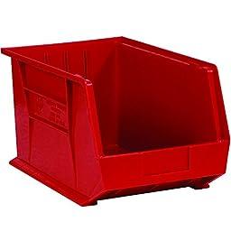Aviditi BINP1087R Plastic Stack and Hang Bin Boxes, 10 3/4\