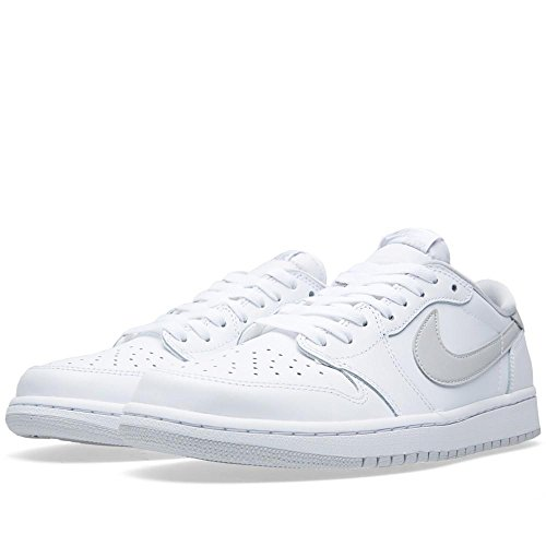 Low Jordan white Sportive Grigio Og Retro Grey 1 White Bianco Nike Air Uomo Scarpe Neutral n5qISS