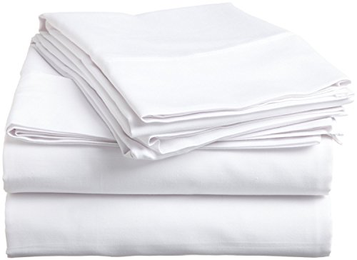 Egyptian Cotton Sateen Hotel Classic White Solid 4 Pieces Qu