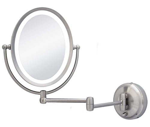 Zadro 10X/1X Next Generation LED Lighted Oval Wall Mount Mirror, Satin Nickel by Zadro (Image #3)
