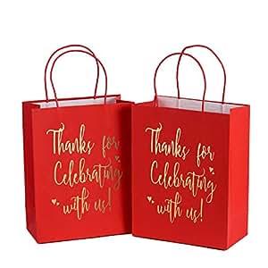 Amazon.com: LaRibbons Bolsas de regalo de tamaño mediano ...
