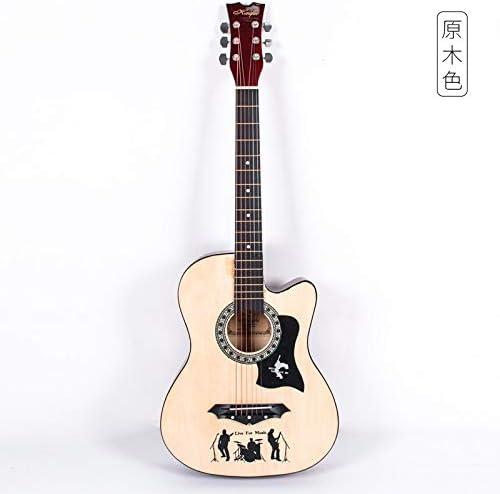 XUJJA - Guitarra Folk de Madera de Tilo de 38 Pulgadas para ...