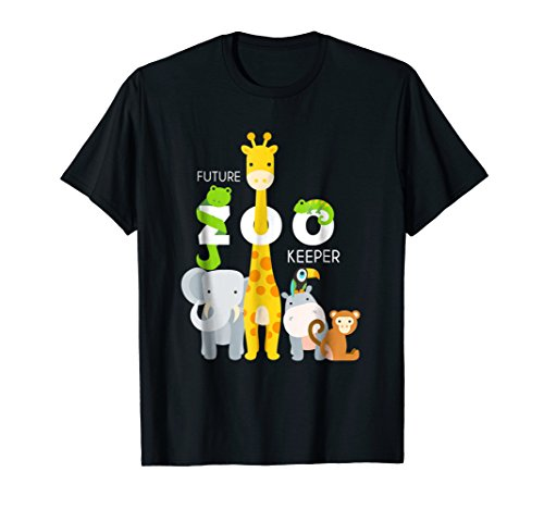 Kids Future Zoo Keeper African Safari Boys Girls tShirt Gift