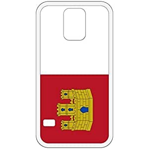 Castilla Le Mancha Flag White Samsung Galaxy S5 Cell Phone Case - Cover