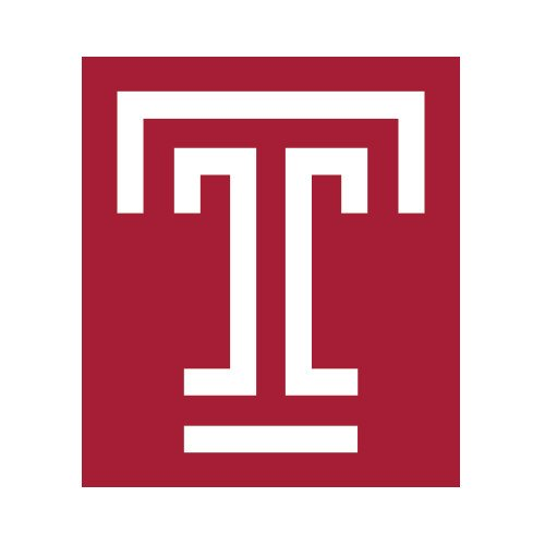 (CollegeFanGear Temple Small Magnet 'Box T')