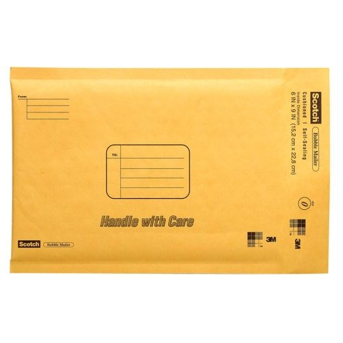 Wholesale CASE of 25 - 3M Scotch Cushioned Mailers-Bubble Mailer, 8-1/2