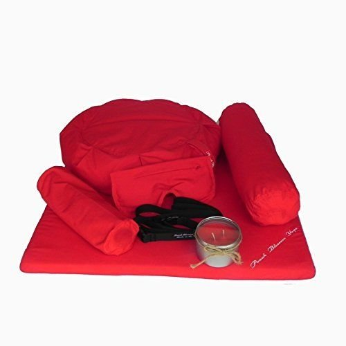 Yoga 7 Piece Deluxe Yoga Meditation Set A7 Red NEW by Syl Billionair
