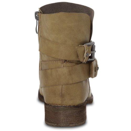 Buckle Metal Vintage Ladies Beautiful with Boots CASPaR 4 Size Ankle x0wFnP