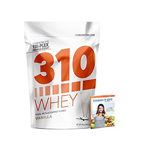 Vanilla Meal Replacement | 310 Shake Whey Protein Powder is Gluten Free, Soy Protein Free and Sugar Free | Includes Free Recipe eBook | 28 Servings by 310 Nutrition