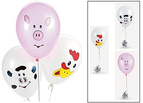 Make your Own Farm Animal Balloons (1 dz)