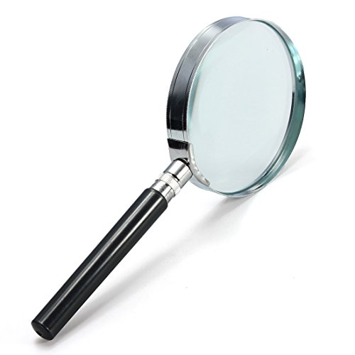 Jewelry And Watch - 5x Handheld Hand Held Magnifying Glass Lens 75mm - 1PCs (Staples Glass Desk)