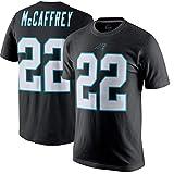 Majestic Athletic Mens Christian McCaffrey Carolina Panthers Player Pride Name & Number T-Shirt - Black