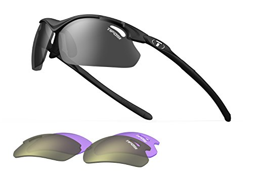 Tifosi Tyrant 2.0 1120200115 Dual Lens Sunglasses,Matte Black,68 mm (Best Golf Sunglasses For Reading Greens)