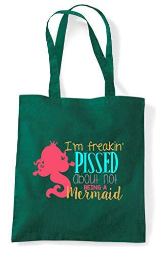 Green Being Shopper Not A Pissed Tote About Bag Mermaid Dark EazFwRq